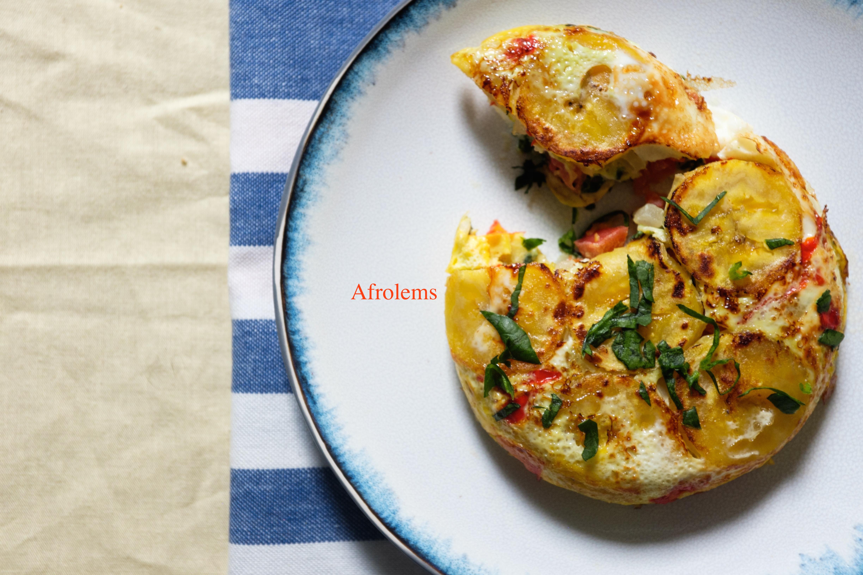 Plantain Fritatas Recipe Afrolems Nigerian Food Blog