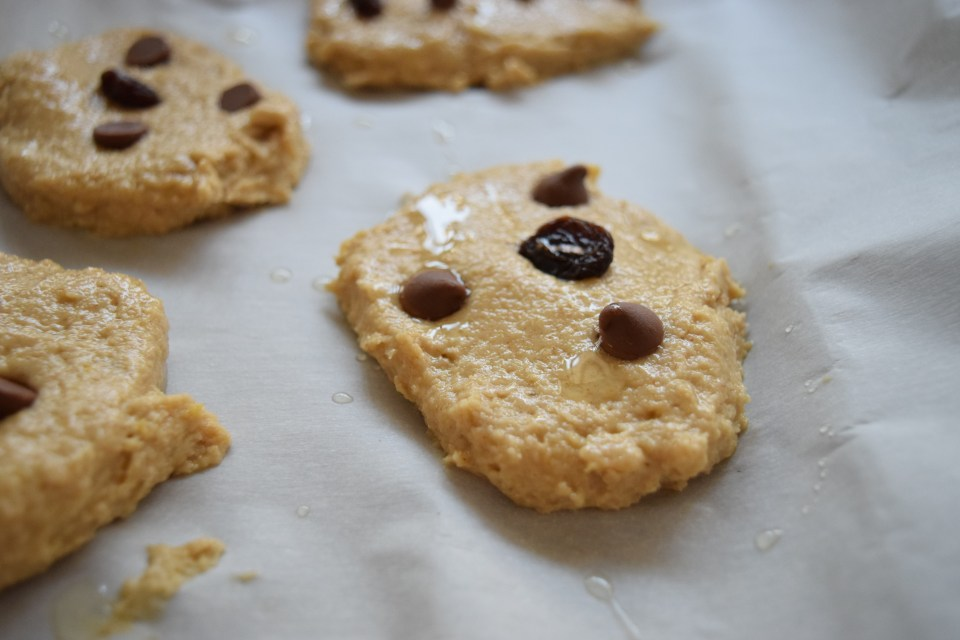 raisin plantain cookie dough