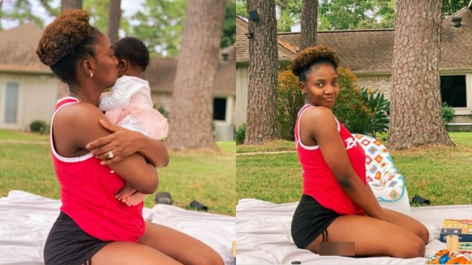 'God knows i needed you' - Simi gushes over her baby girl, Adejare