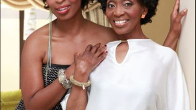 South African celebrities pictured with their Mom