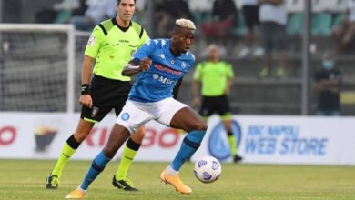 Osimhen bags hat-trick, assist as Napoli hammer opponent 11-0 in pre-season game