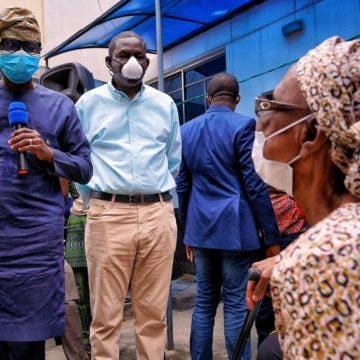 Sanwo-Olu visits site of helicopter crash at Opebi, orders integrity test on buildings