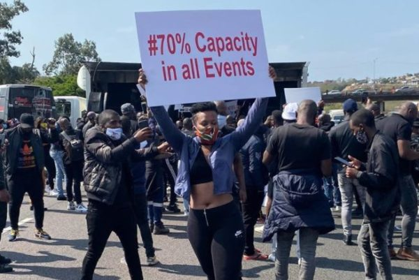 N3 roadway reopened and 35 arrested following artists protests