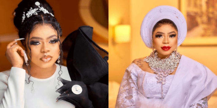 Bobrisky 'blesses' his followers with peng photos as he channels a rich bride