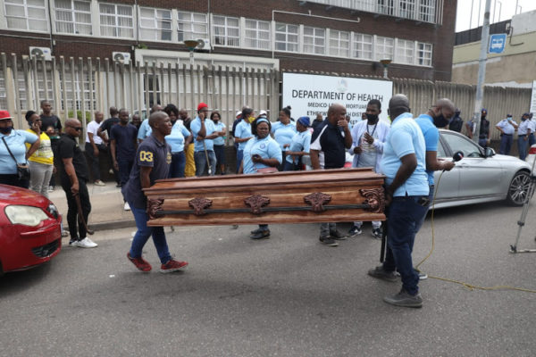 Unification Task Team and funeral sector embark on a three-day strike