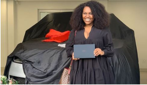 Gugu Gumede shows off her newly acquired Land Rover