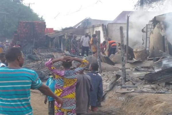 PHOTOS: Tanker explodes in Niger; houses, shops burnt