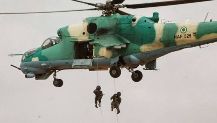 Military airstrike hits ISWAP location, eliminates scores of terrorists in Borno
