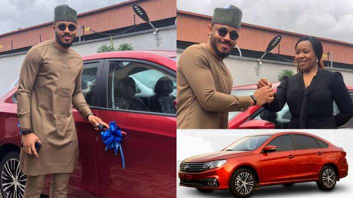Ozo receives his brand new car from Innoson Motors