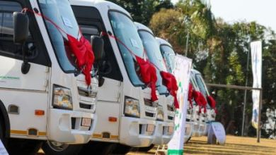 15 modified buses from the govt received by special needs pupils