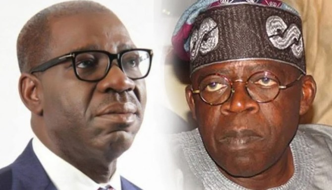 Tinubu to Obaseki: Your tenure of woeful leadership in Edo state will be brought to an end