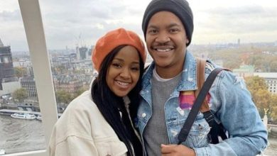 Photo: Mpoomy Ledwaba and hubby, Brenden Praise show off their baby boy