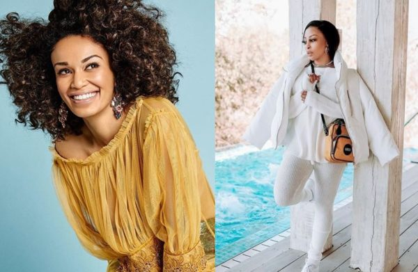 Pearl Thusi shows Khanyi Mbau love after interview – Photo