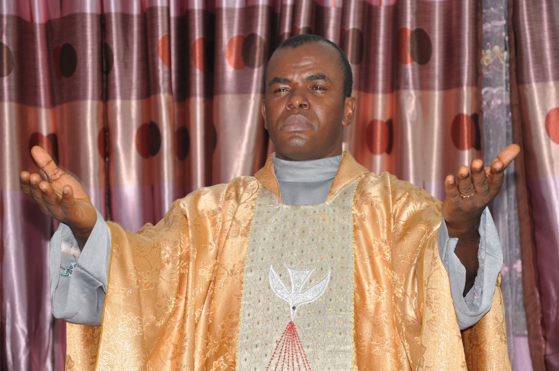 Fake News: Father Mbaka's Church Was Not Set On Fire