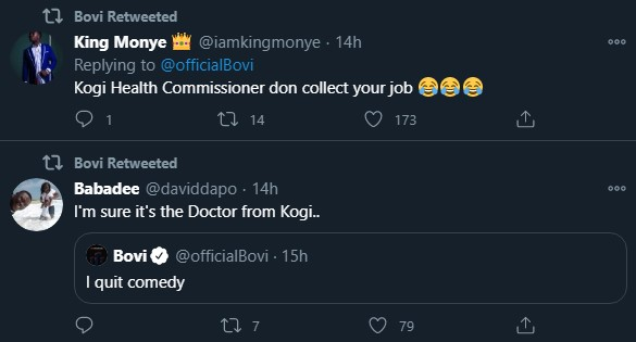 Bovi Reacts To Video Of Kogi Commissioner Crying Over Looted Equipment