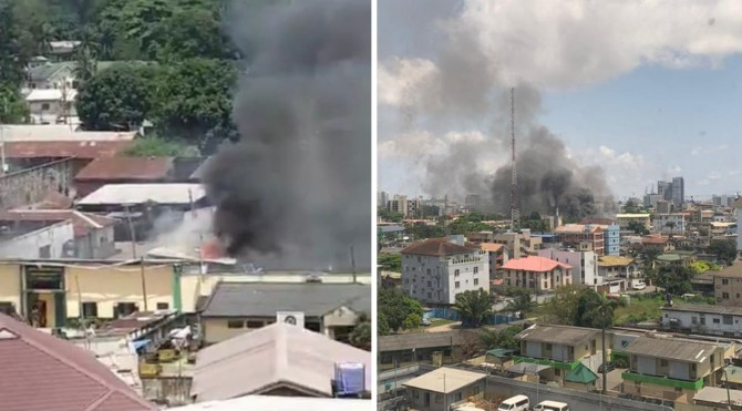 BREAKING: Ikoyi prison on fire as inmates try to escape (Video)