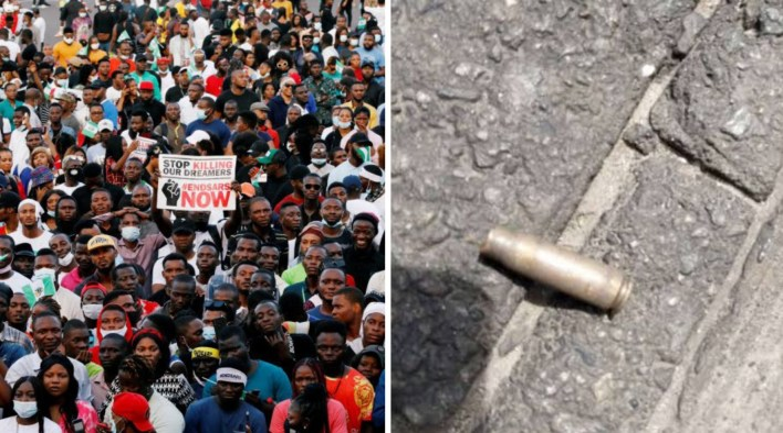 Lagos panel visit Lekki toll gate, discover bullet shells 10 days after shooting (PHOTOS)