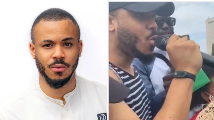 'Lets not disturb people with our protest' – BBNaija ex housemate, Ozo urges Abuja #EndSars protesters