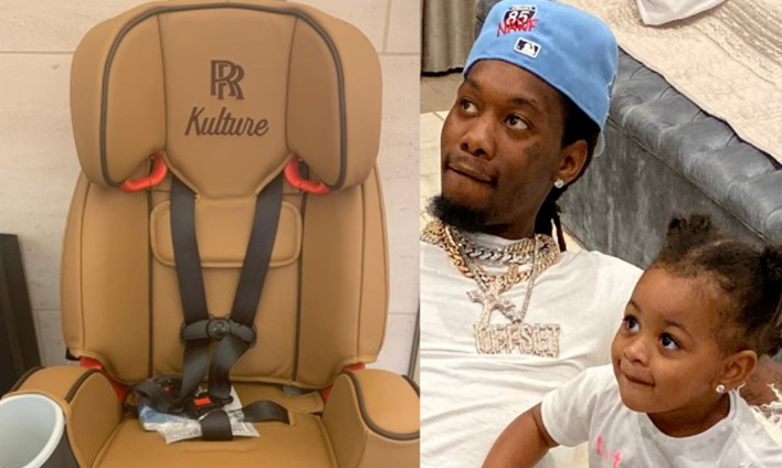Offset buys his 2 year old daughter, Kulture, a customized $8,000 car seat