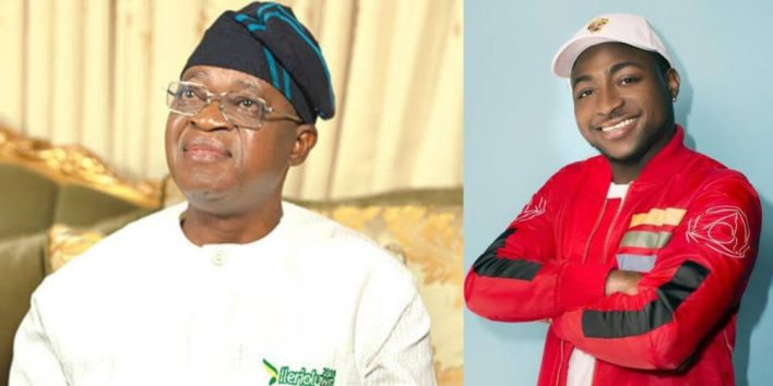 'Oyetola, you have failed' – Davido rains insult on Osun State governor