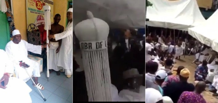 VIDEO: Ritual Rites Held To Welcome Oba Of Lagos, Staff Of Office To The Palace