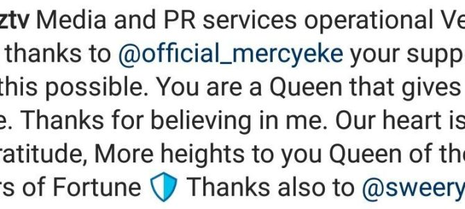 """""""You are a Queen that gives in silence"""" – Mercy Eke's media manager excited as she gifts him a new car"""