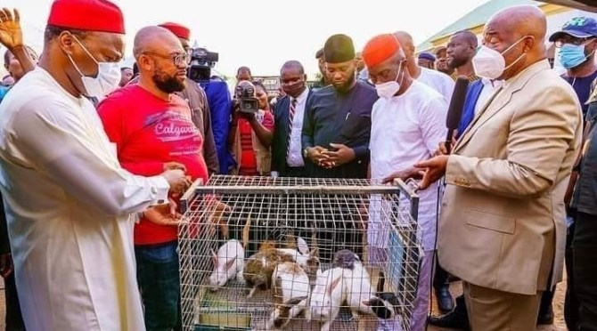 Governor Uzodinma Empowers Imo Youths With Rabbit