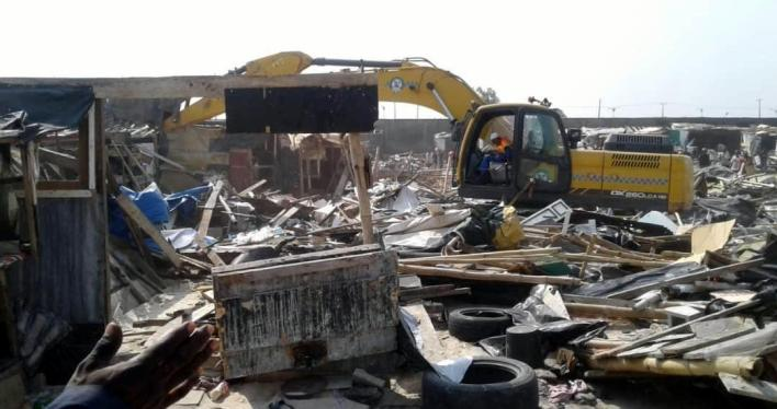 Lagos Govt demolishes over 1,700 Shanties at Fagba