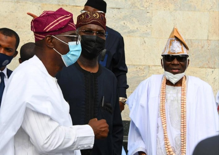 PHOTOS: Oba of Lagos makes first public appearance after 'staff of office, palliatives saga'