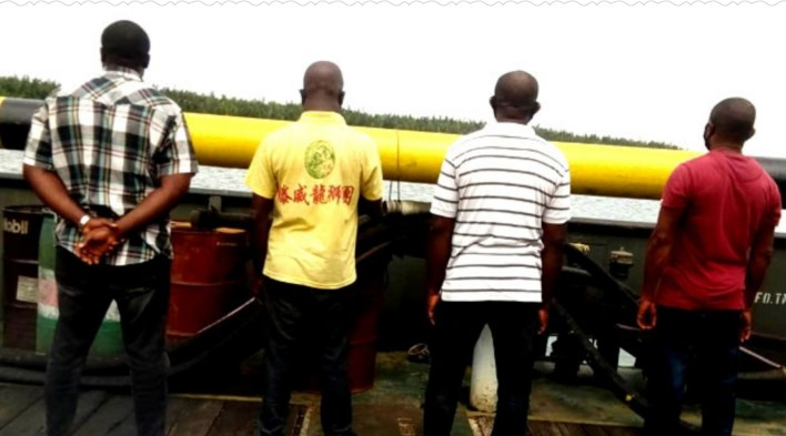 EFCC receives four suspected oil thieves from Navy in Rivers State