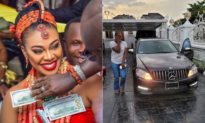 Ehi Ogbebor Gifts Her Personal Assistant a Multi-Million Naira Mercedes Benz (Photos)