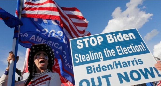 Trump supporters storm the streets, reject Biden's victory