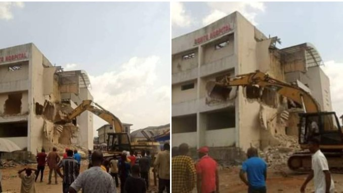 Uzodinma demolishes hospital built by predecessor, Okorocha