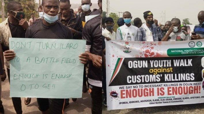 State lawmakers join protest against alleged killings by Customs officers in Ogun