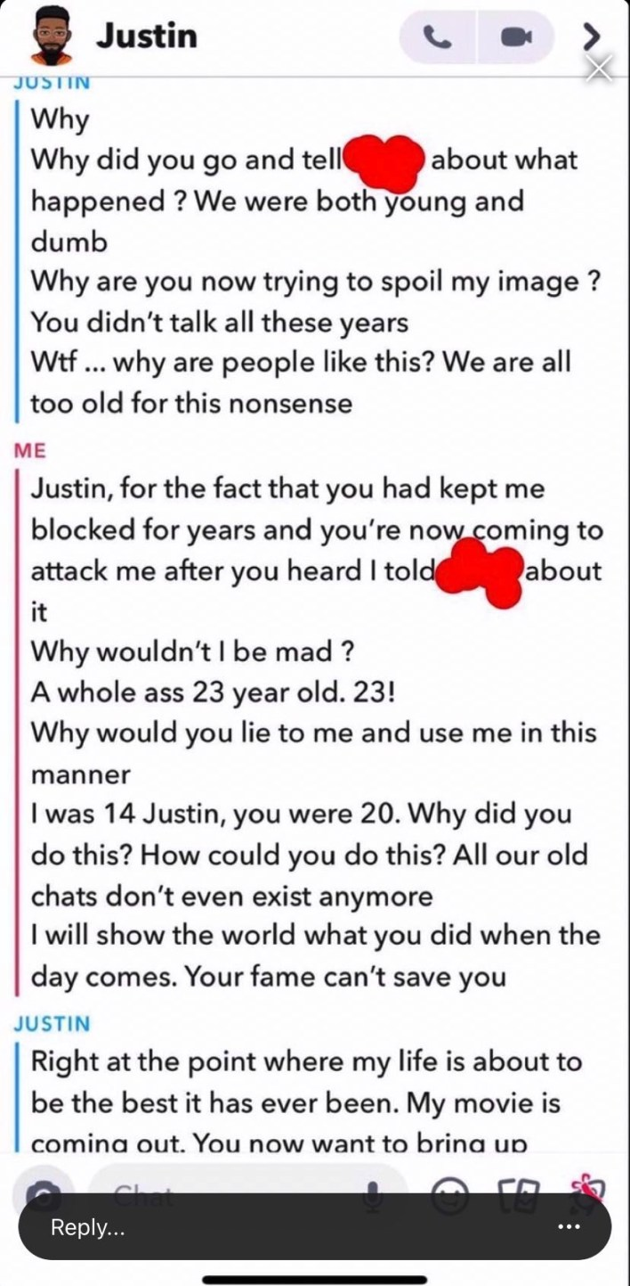 17-year-old girl calls out Nigerian actor for allegedly sleeping with her at age 14 after lying about his age