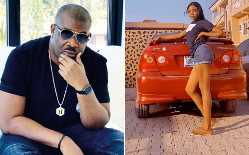 Lady thanks Don Jazzy for sending her N5 million to buy a car, he reacts