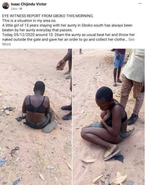 PHOTOS: 13-year-old Girl Allegedly Stripped By Aunt, Thrown Into The Street In Benue