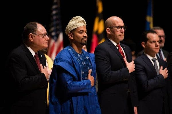Nigerian Man Elected Into Public Office In U.S. Rocks Agbada To Inauguration