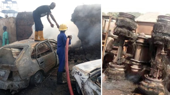 Gov AbdulRazaq sad as tanker fire kills six, burns 30 buildings in Kwara