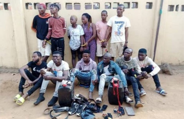 Lagos Police arrest 15 suspected cult members