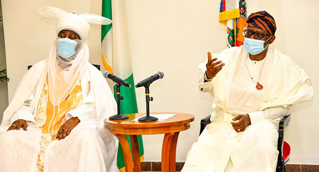 Emir Of Kano meets Sanwo-Olu