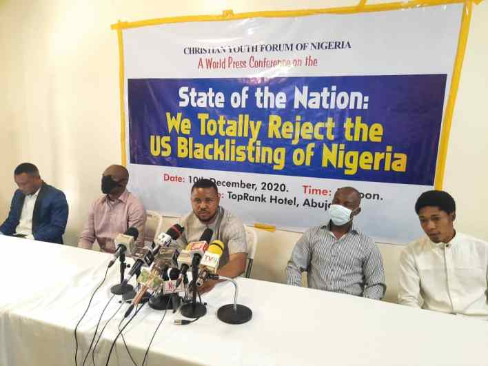 Blacklist: Young Christian Forum of Nigeria reject US position on Nigeria over religious intolerance
