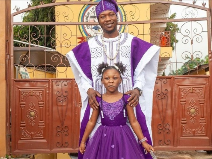 Seun Kuti celebrates daughter as she turns 7