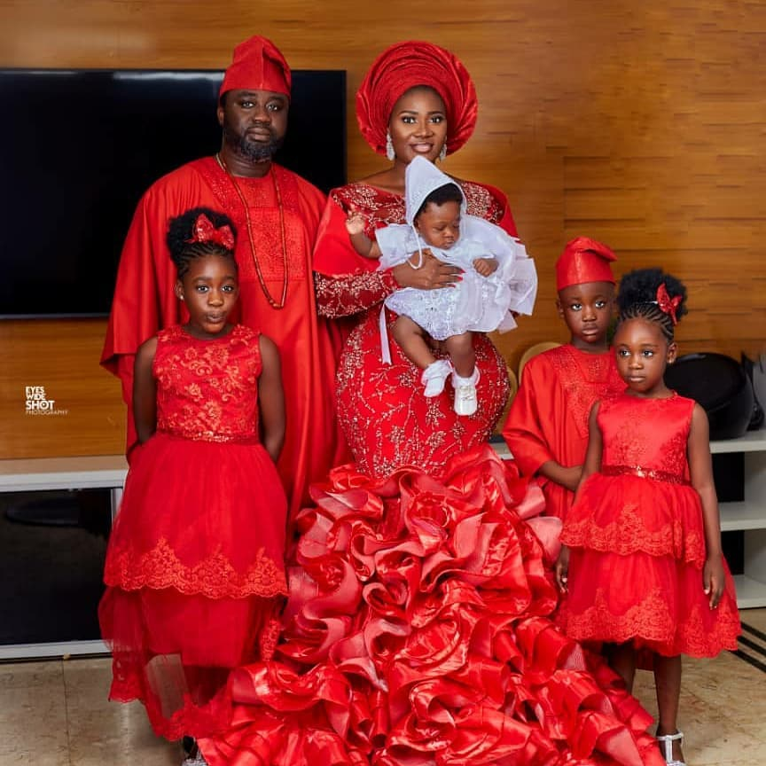 Mercy Johnson Shares Lovely Snaps From Baby's Dedication