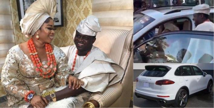 Celebrity jeweler, Malivelihood gifts wife brand new Porsche SUV as wedding present (Video)