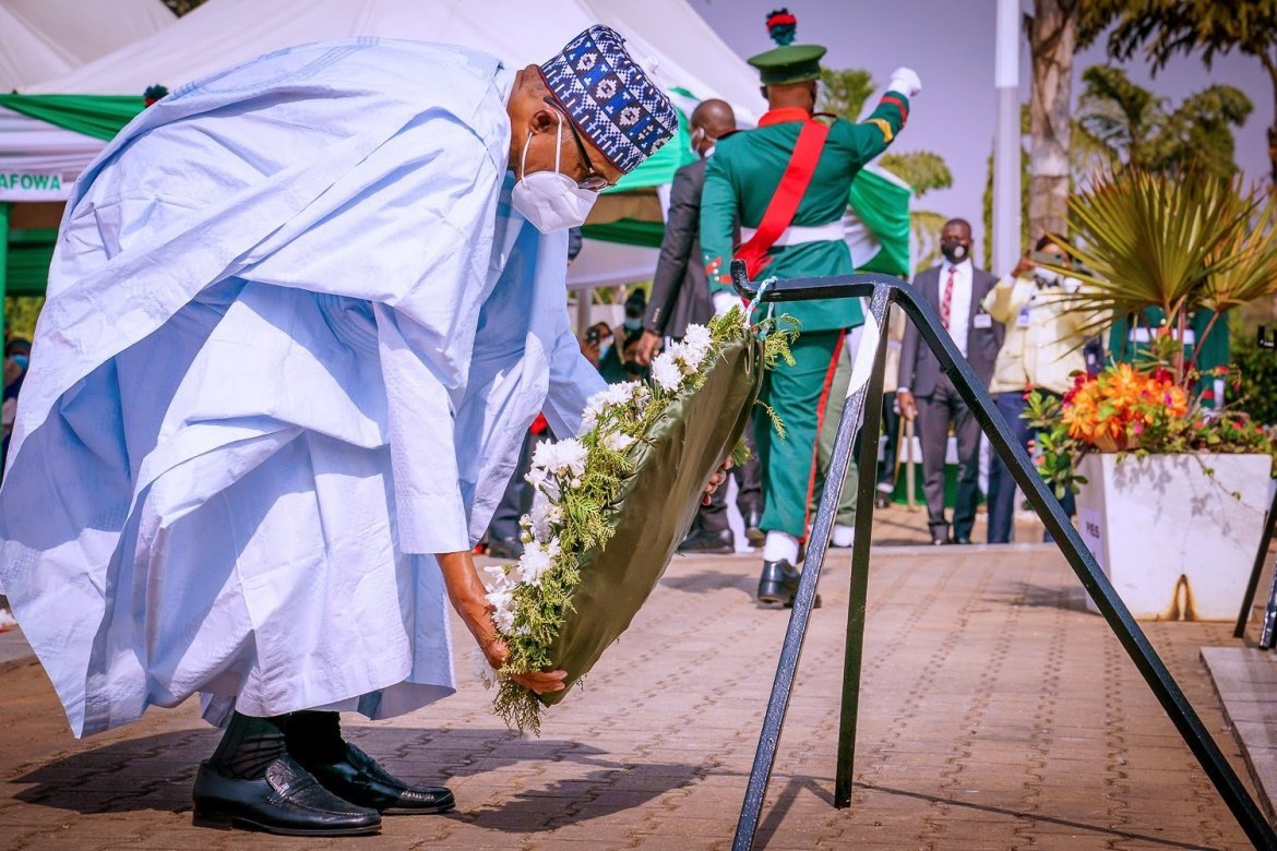 Armed forces remembrance day: Buhari, others honour fallen heroes