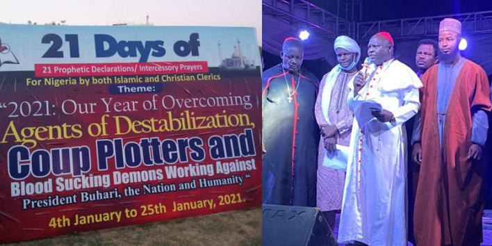 2021: Group commence 21 days inter-Faith prayers for Nigeria, Buhari to overcome insecurity, destabilization