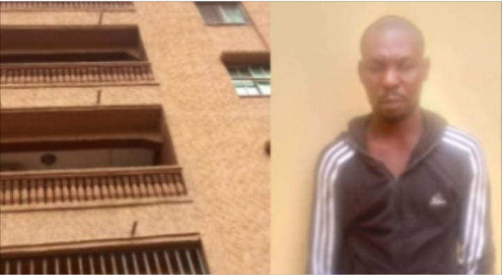 PHOTOS: Lady dies after her boyfriend allegedly pushed her from a five-storey building in Anambra