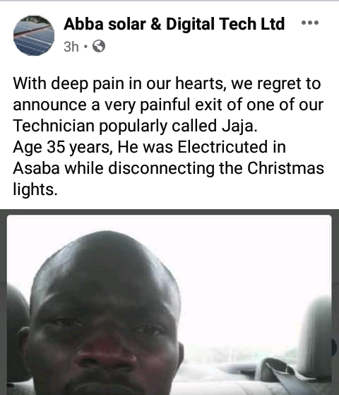 35-yr-old man electrocuted while dismantling Christmas light decorations in Delta