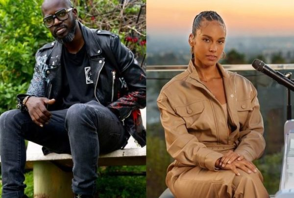 Mzansi reacts as Black Coffee celebrates Alicia Keys 40th birthday with a cosy snap